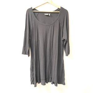 LOGO Lori Goldstein plus Sz 2X Gray Tunic top